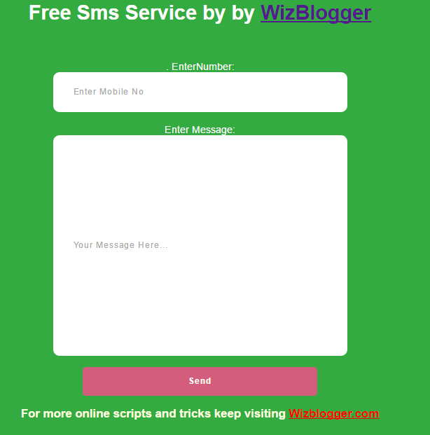 Wizblogger free sms